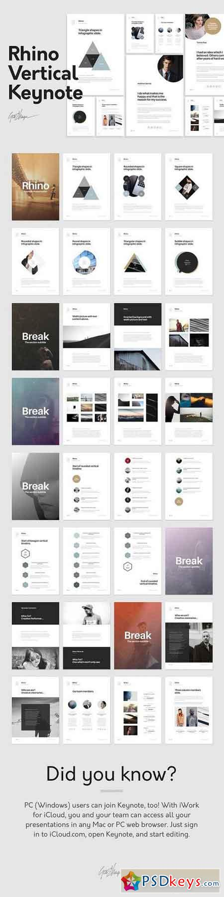 Rhino Vertical Keynote Template 1132773