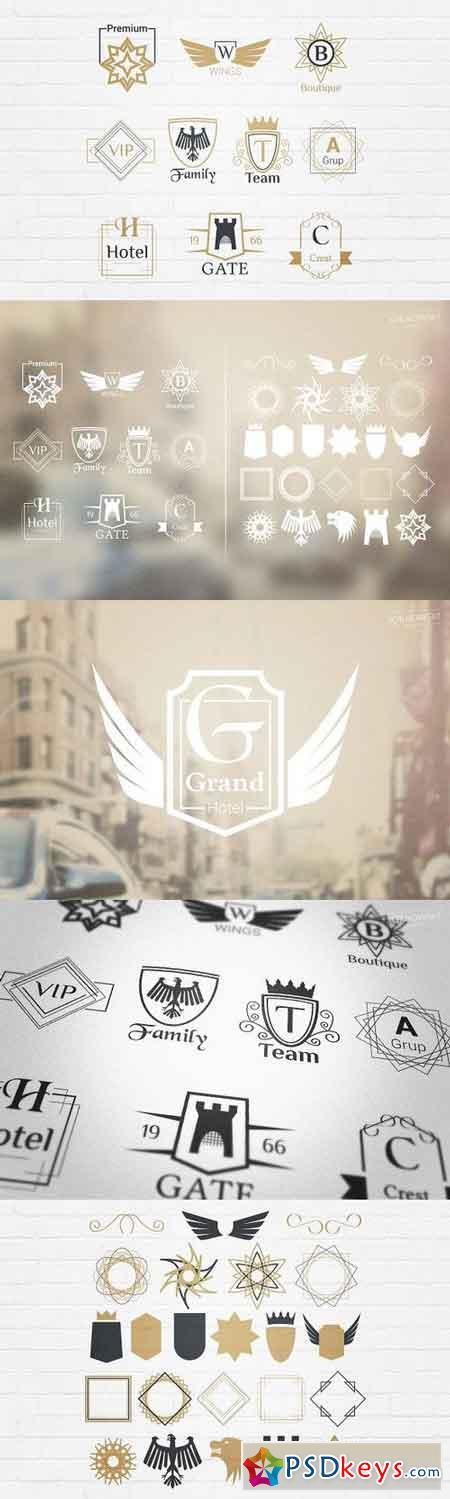 Luxury Insignia Badges Logos 1157493