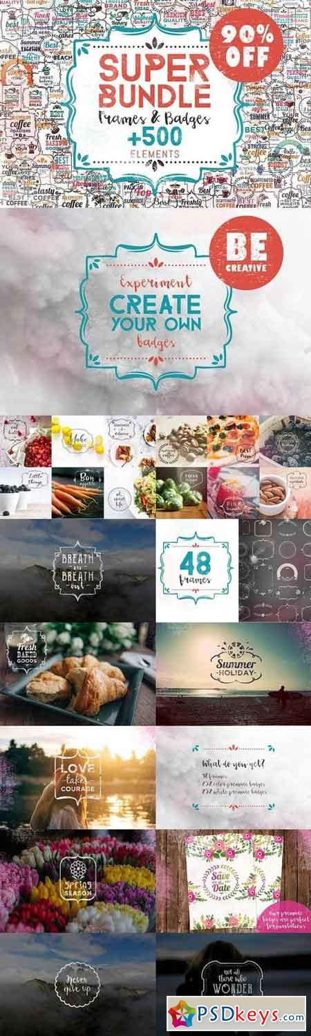 Super Bundle Frames & Badges 1013236