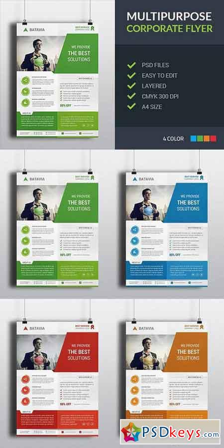 Multipurpose Corporate Flyer 587984