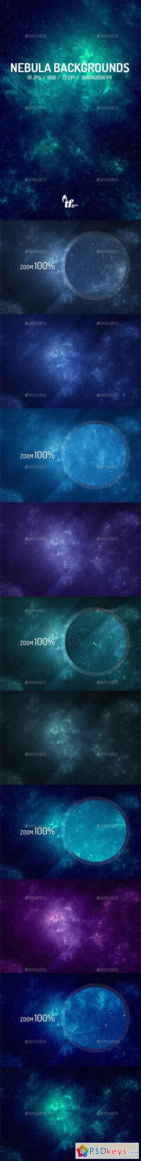 10 Nebula Backgrounds 9647294