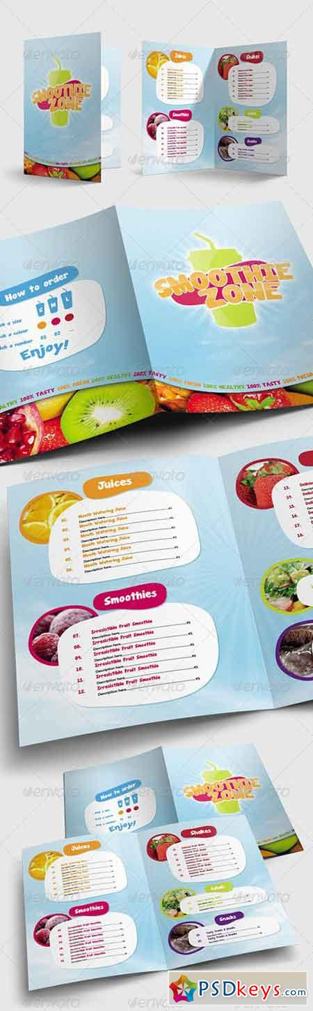 Juice and Smoothie Menu - Smoothie Zone 1731117