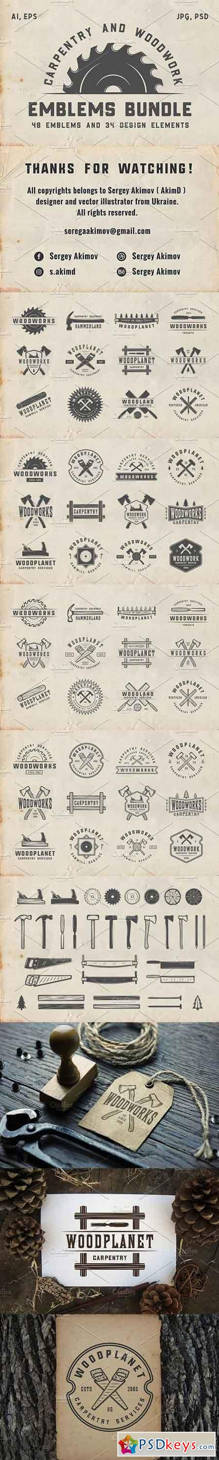 Vintage Carpentry Emblems part 2 124969