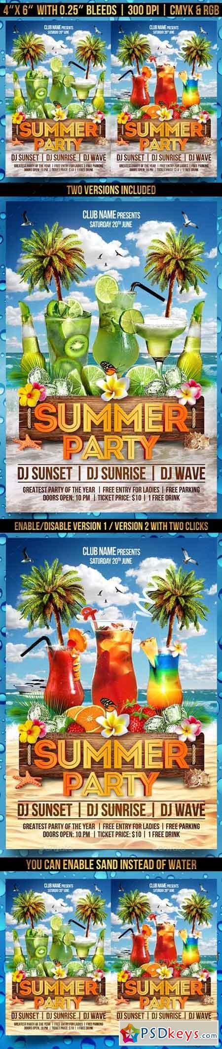 Summer Party Flyer Template 19740290