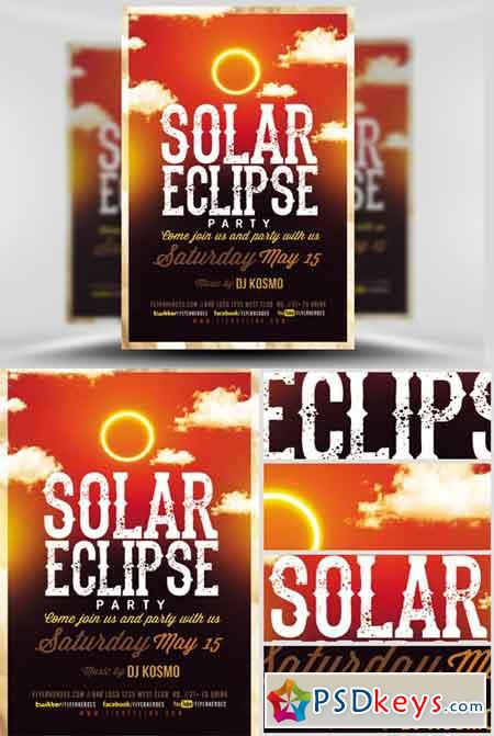 Solar Eclipse Party V2 Flyer Template