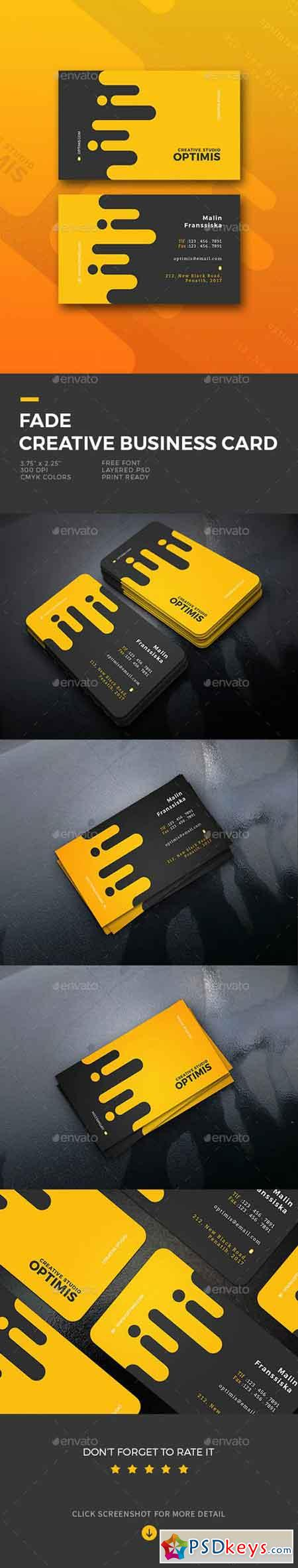 Fade Creative Business Card 19634383