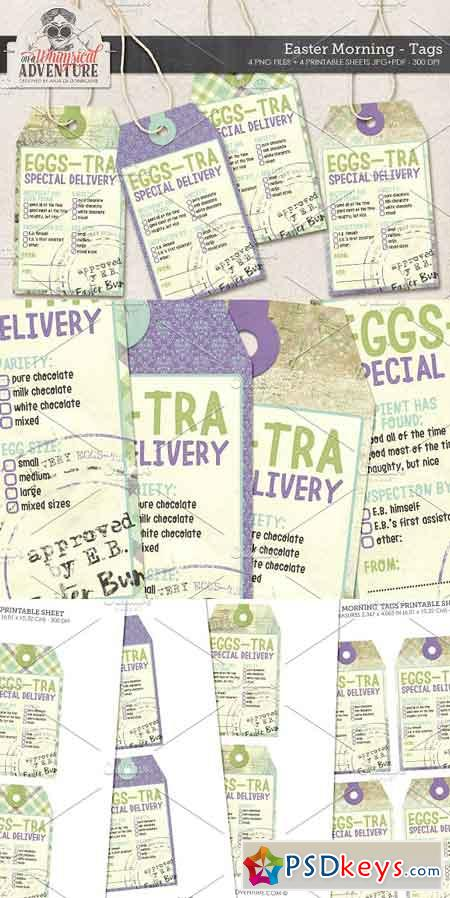 Easter Eggs-tra Delivery Tags 1400581