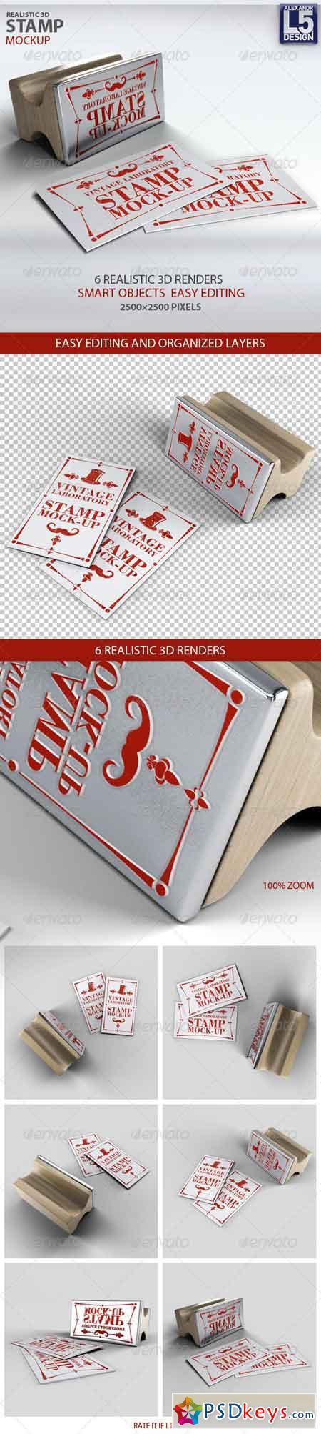 Stamp Business Card Mock-Up 8739837