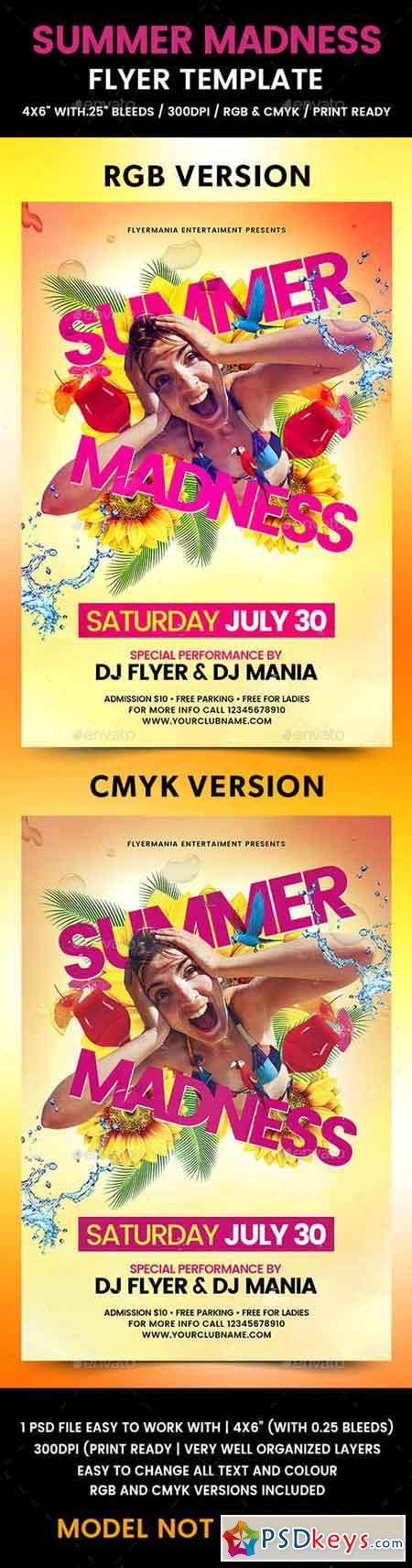 Summer Madness Flyer Template 19763840