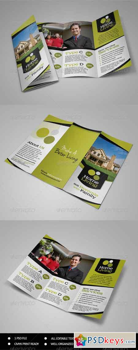 Living Real Estate Trifold Brochure 7531452