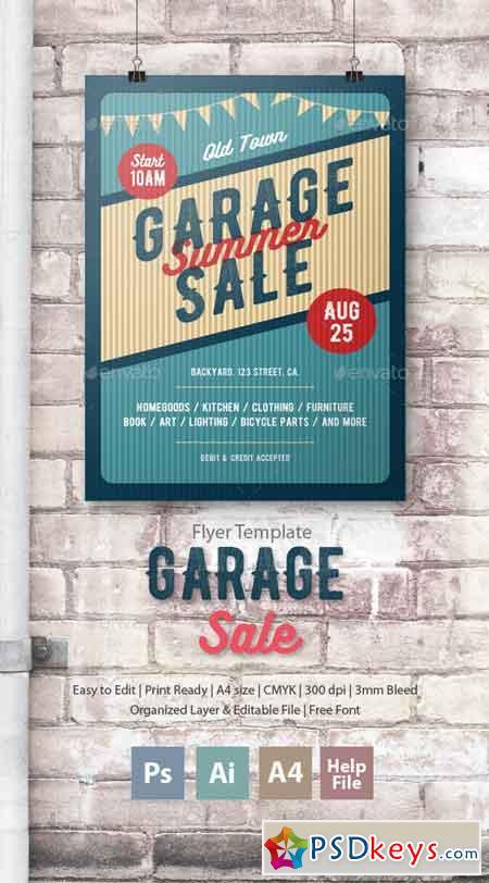 Garage Sale Flyer Poster 17121983