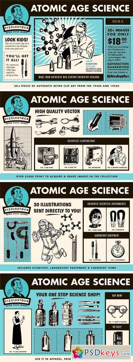 Atomic Age Science Clip Art 2 1361456