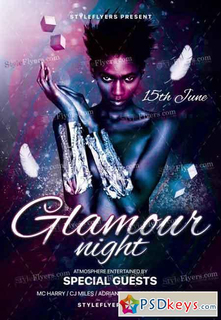 Glamour Night PSD Flyer Template 2