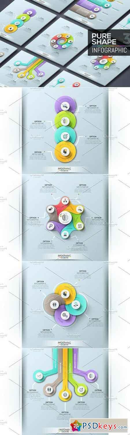 Pure Shape Infographic. Set 4 658896