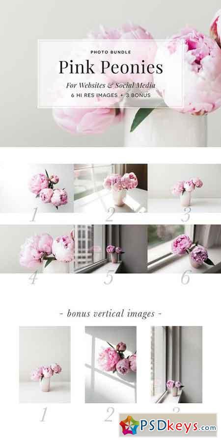 Pink Peony Bundle + 3 Bonus Images 1329323