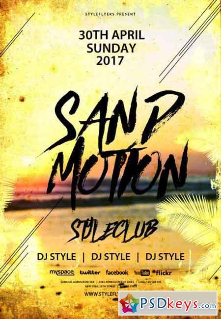 Sand Motion PSD Flyer Template