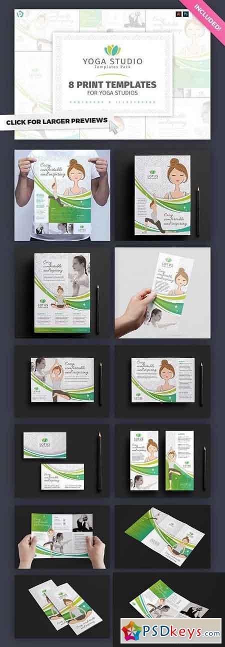 Yoga Studio Templates Pack 1203485