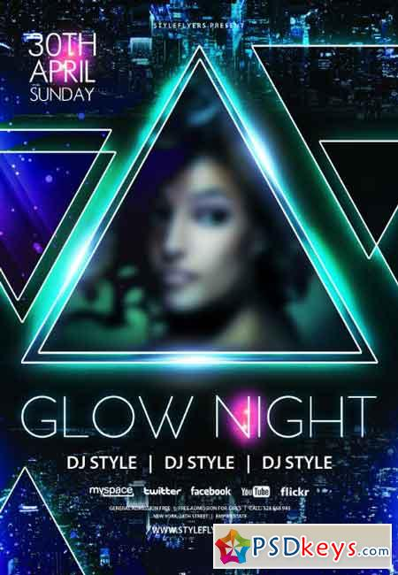 Glow Night PSD Flyer Template