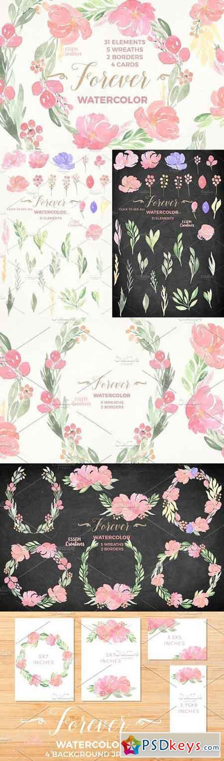 Watercolor Floral Bundle - Forever 1060015