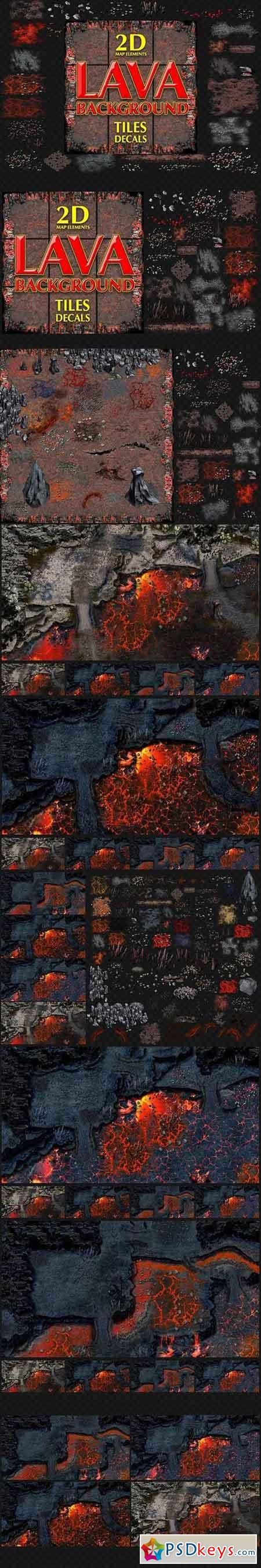 LAVA GAME BACKGROUND TILES AND DECAL 1373058