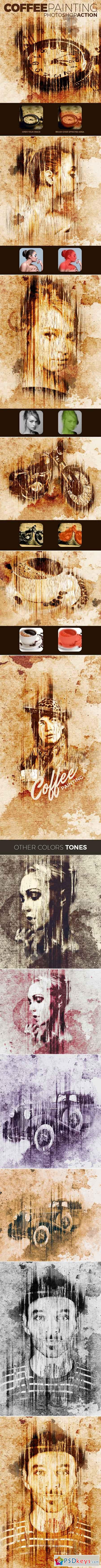 Coffee Painting Action 15171888