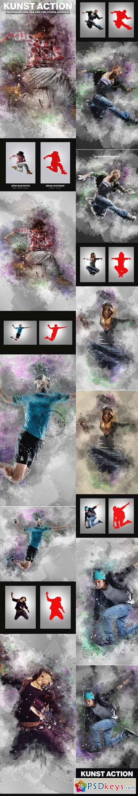 Kunst Photoshop Action 18042886
