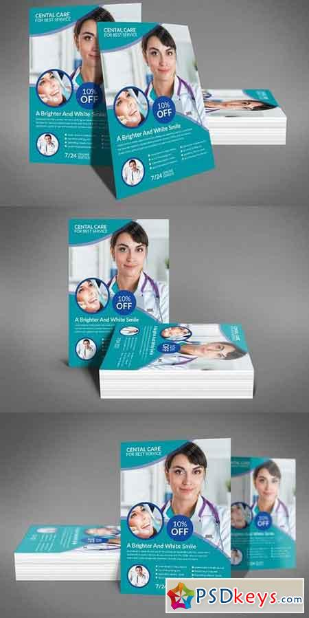 Dental Flyer Templates 1196004 Free Download Photoshop Vector