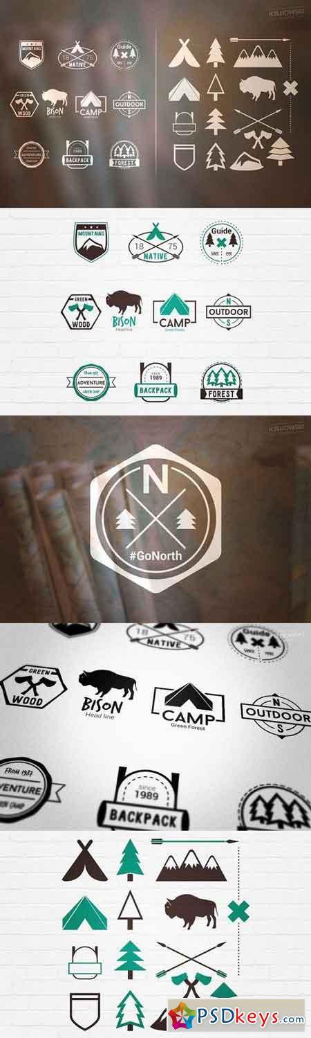 Adventure Outdoor Badges Logos 491376