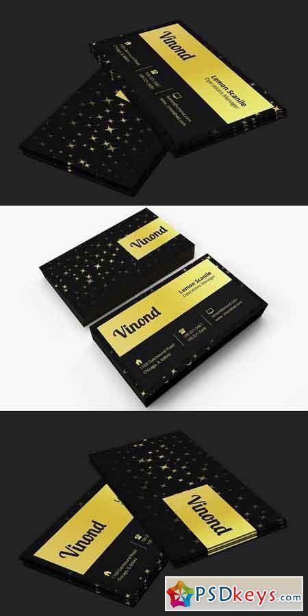 Black & Golden Business Card 803359