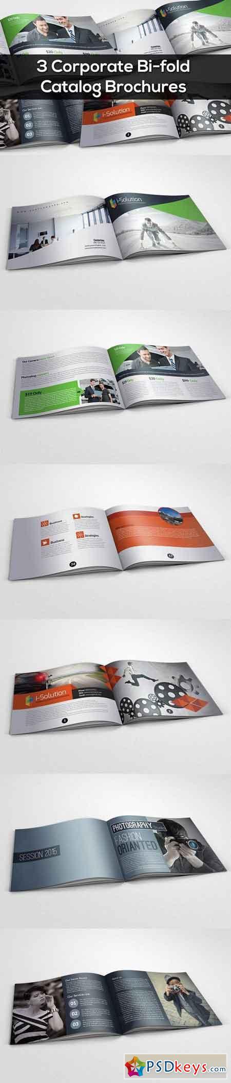 3 Corporate Bi Fold Brochure Bundle 769005