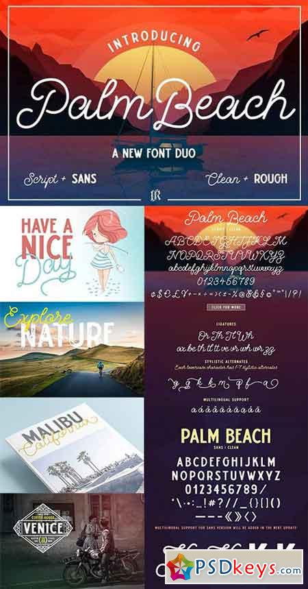 Palm Beach Font Duo 1352566
