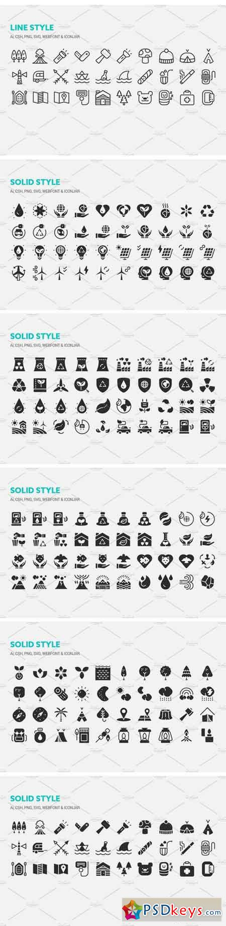 Outdoor and Ecology Icons 1319823