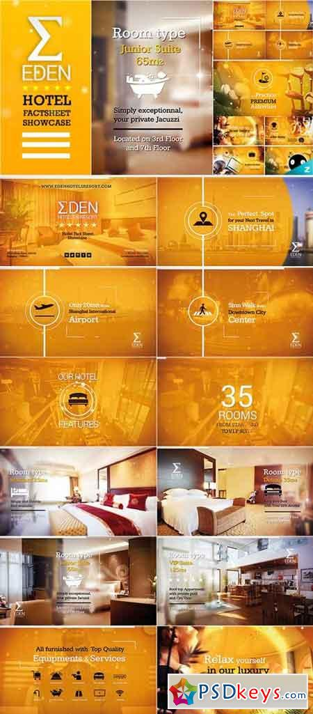 Hotel Fact-sheet Showcase 19428074 - After Effects Projects