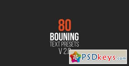 80 Bouncing Text Presets V2.0 - After Effects Projects