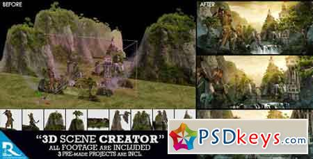 3D Scene Creator Kit 15927503 - After Effects Projects