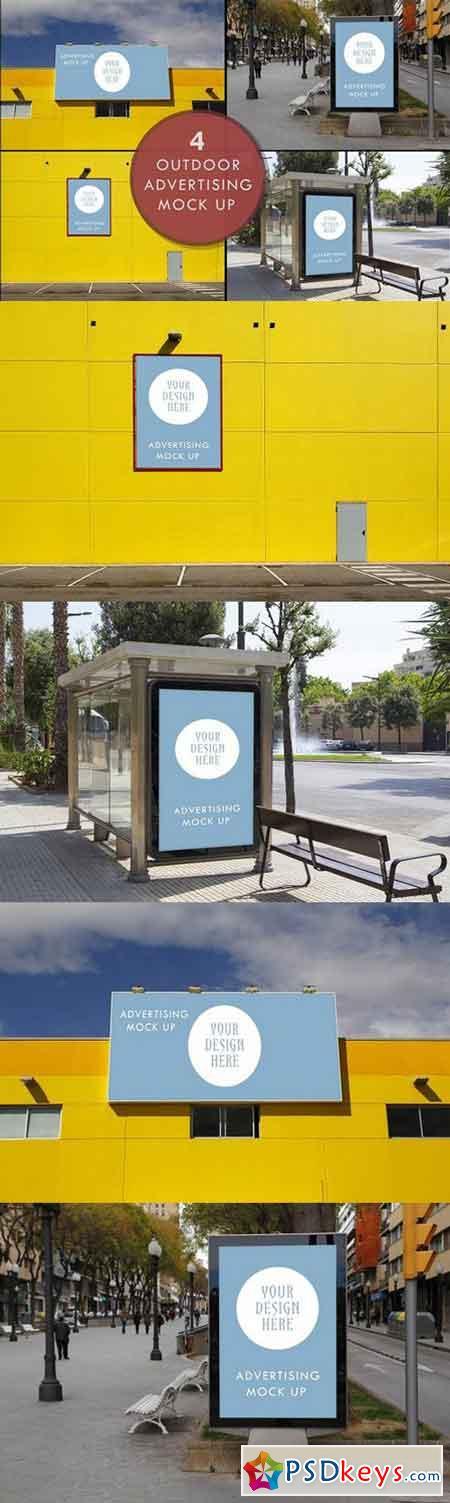 Advertising outdoor mock up 885693