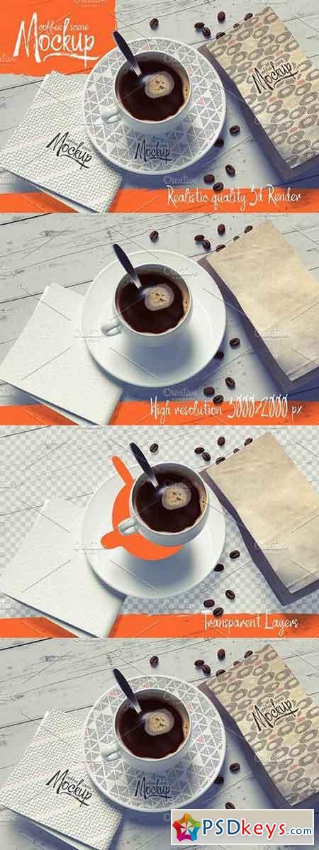 Coffee Scene Mockup 838754