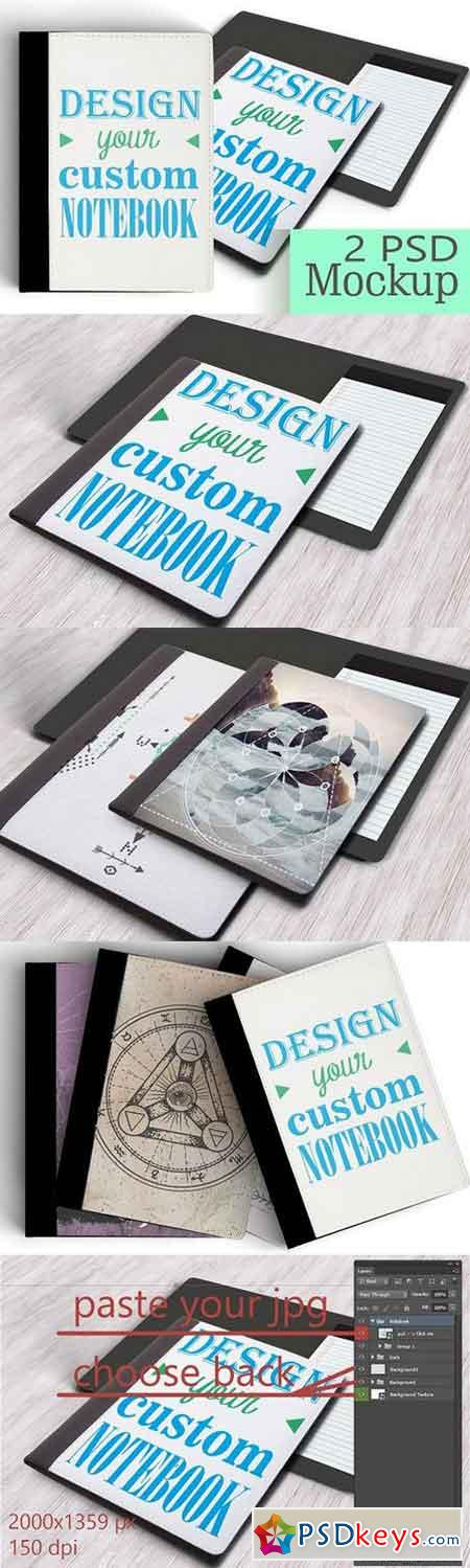 Personalized NoteBook Mockup DIY 718141