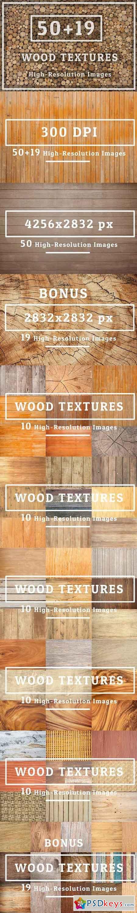 50 Wood Texture Set 04 & 19pic BONUS 573621