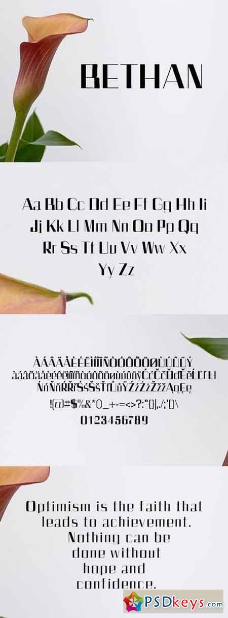 Bethan Sans Serif Font