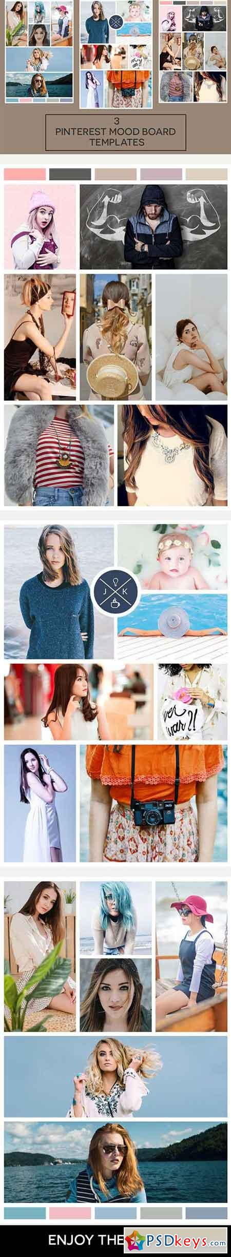 Pinterest Mood Board Templates