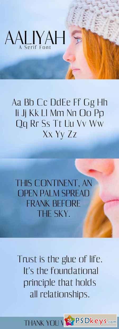 Aaliyah Serif Font