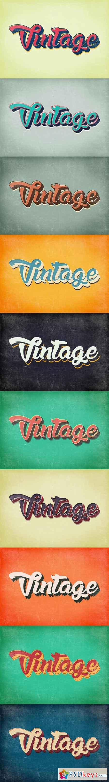 Vintage & Retro Text Styles