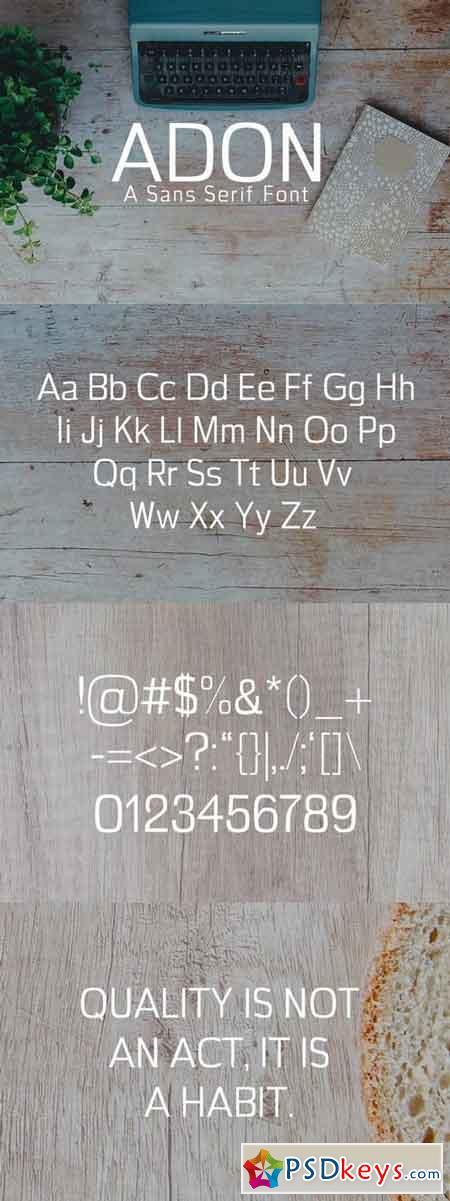 Adon Sans Serif Font