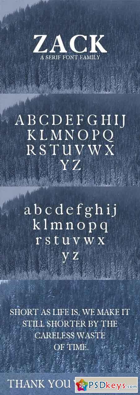 Zack Serif Font