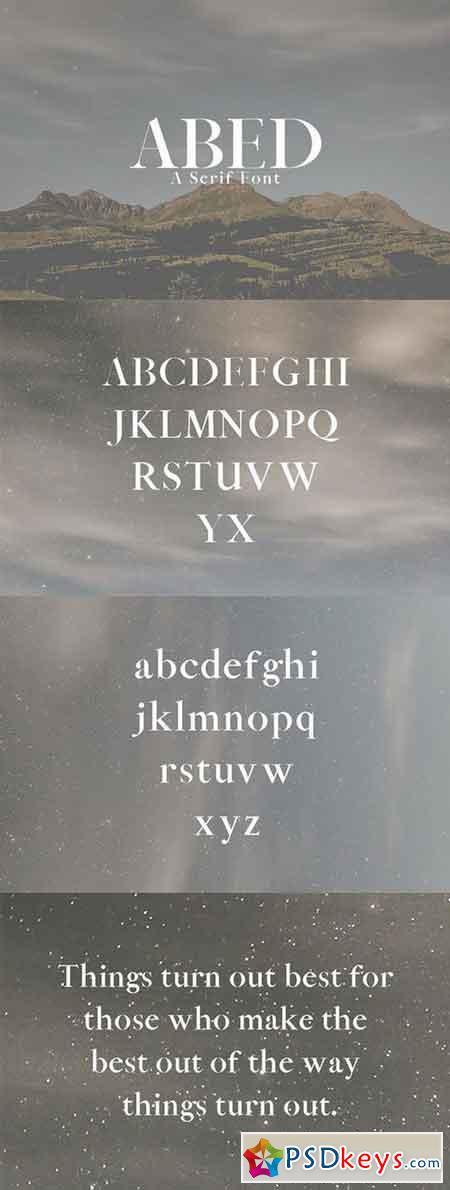 Abed Serif Font