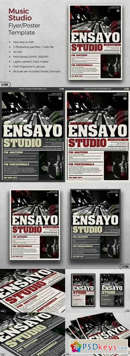 Music Studio Flyer Template 1196411
