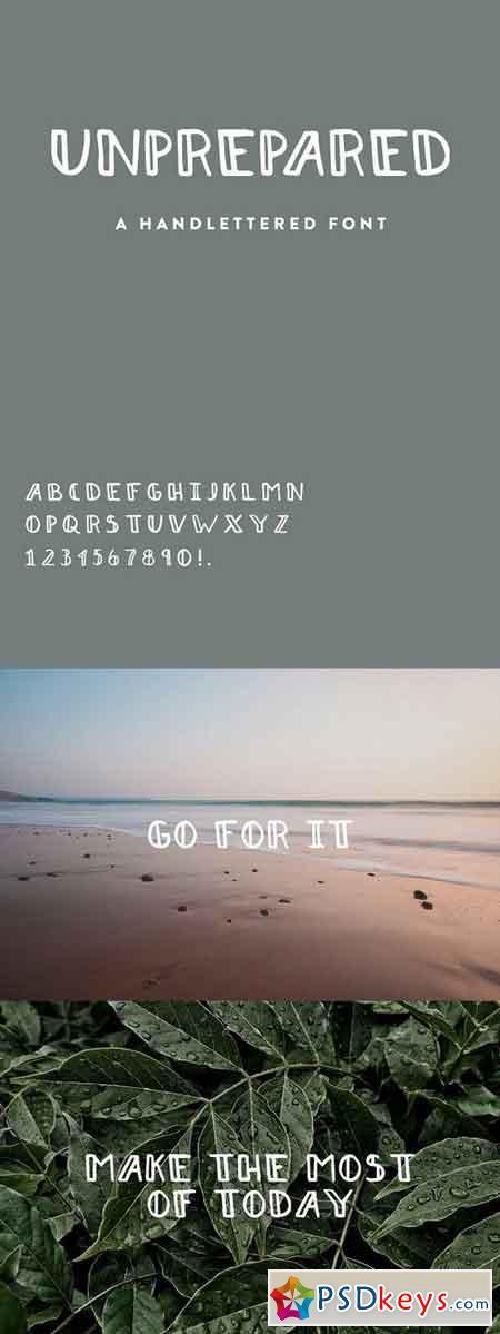 Unprepared - Hand Lettered Font 1204026