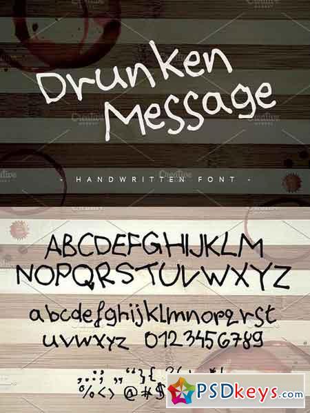 Drunken Message ~ Handwritten Font ~ 1155431
