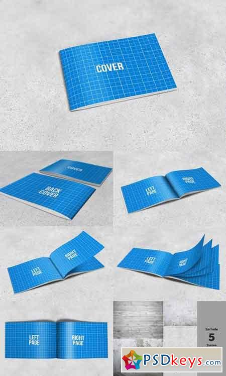 A4 horizontal brochure mockups 1169742 free download for Horizontal brochure design